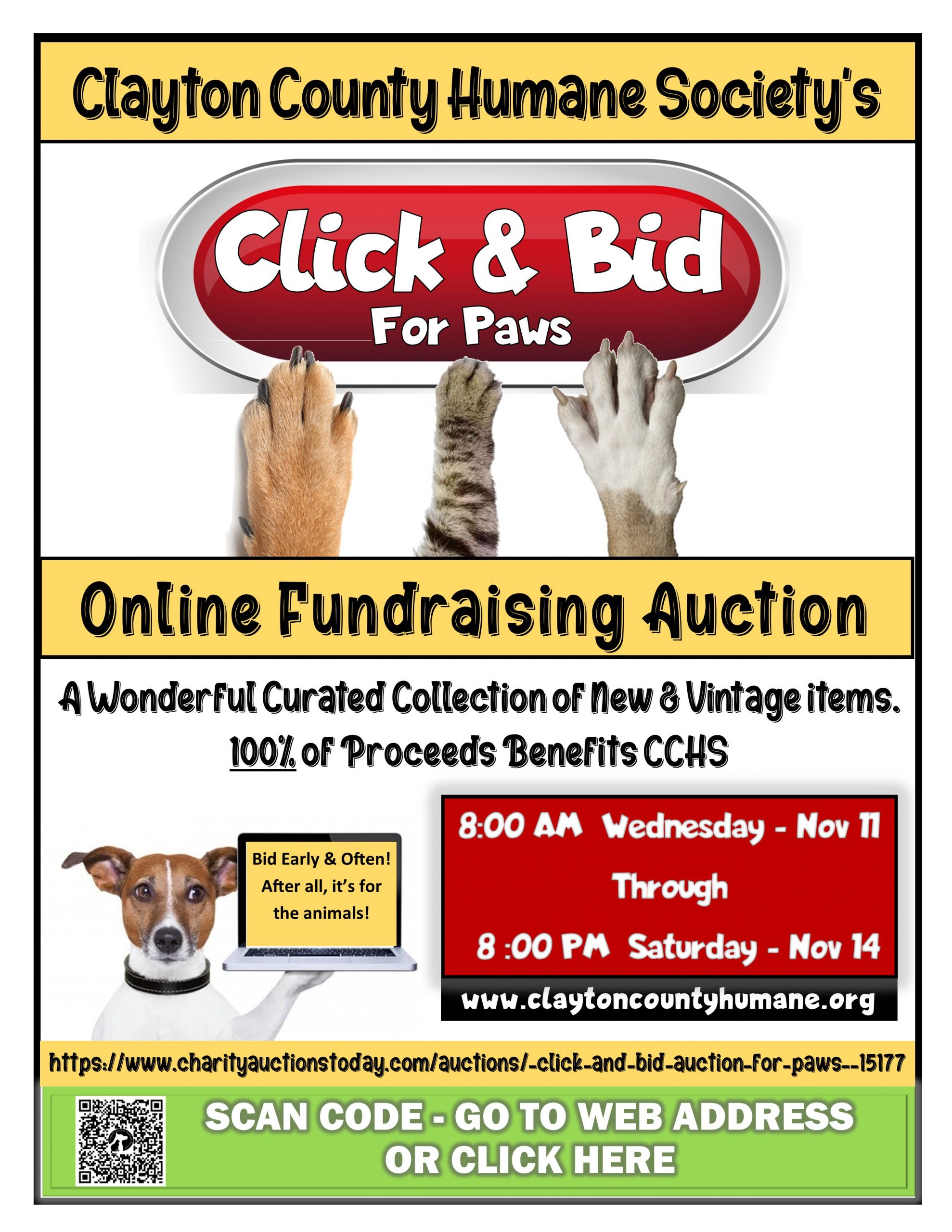 Click & Bid For Paws Auction